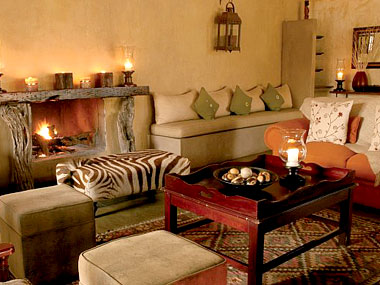 Main lodge lounge fireplace Timbavati Kambaku Safari Lodge Timbavati Game Reserve South Africa