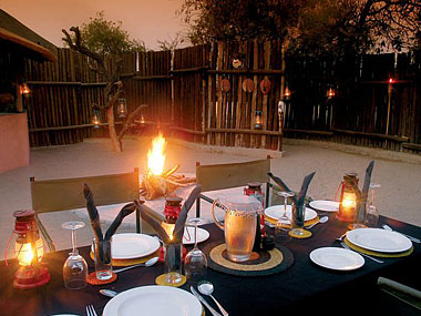 African Boma Dining Timbavati Kambaku Safari Lodge Timbavati Game Reserve South Africa