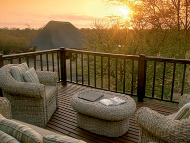 Main lodge deck Timbavati Kambaku Safari Lodge Timbavati Game Reserve South Africa
