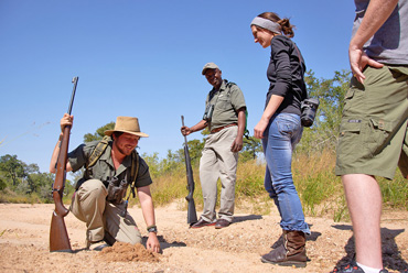Wildlife walking safaris guide Shindzela Tented Camp Timbavati Game Reserve South Africa
