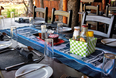 breakfast meals Shindzela Tented Camp Timbavati Game Reserve South Africa