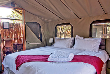 safari tent bedroom Shindzela Tented Camp Timbavati Game Reserve Bush Camp South Africa