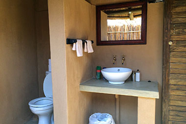 Umlani Bushcamp Rondavel Bathroom Timbavati Game Reserve Accommodation Safari Bookings