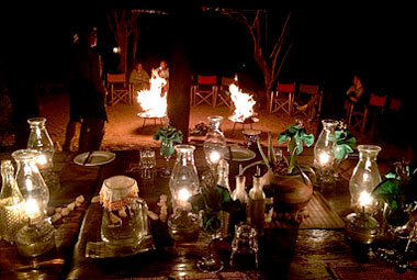 Umlani Bushcamp Brazier Fire Dinner Timbavati Game Reserve Accommodation Safari Bookings