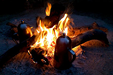 Umlani Bushcamp Fire coffee Timbavati Game Reserve Accommodation Safari Bookings
