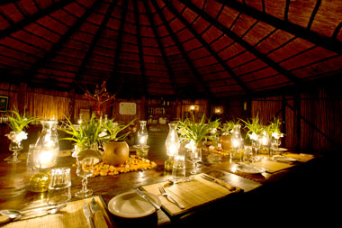 Umlani Bushcamp Dining Dinner Timbavati Game Reserve Accommodation Safari Bookings